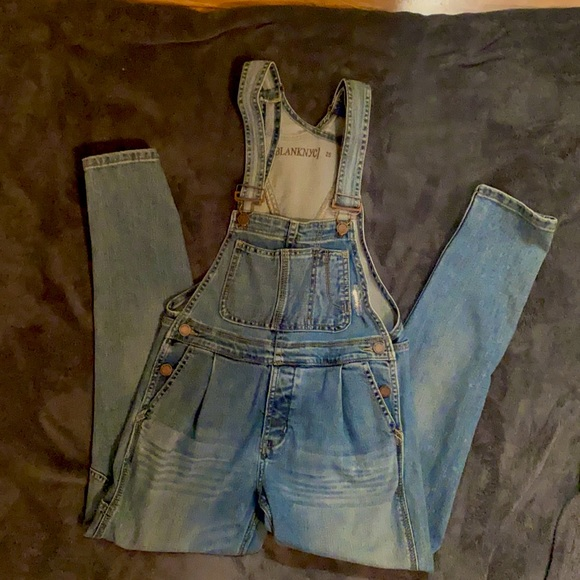 BLANKNYC distressed overalls - worn once - size 25
